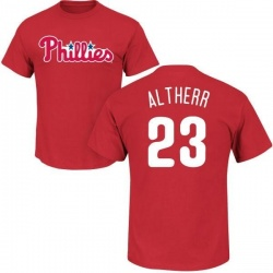 Men's Aaron Altherr Philadelphia Phillies Roster Name & Number T-Shirt - Red