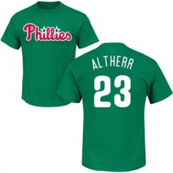 Men's Aaron Altherr Philadelphia Phillies St. Patrick's Day Roster Name & Number T-Shirt - Green