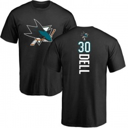 Men's Aaron Dell San Jose Sharks Backer T-Shirt - Black
