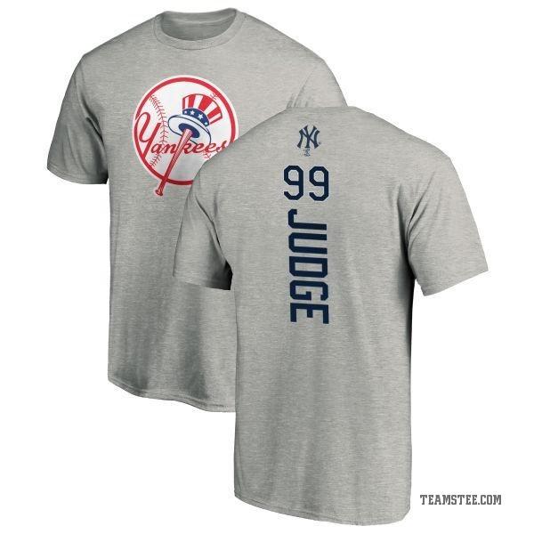 premium selection a32d3 9fd42 Men's Aaron Judge New York Yankees Backer T-Shirt - Ash - Teams Tee
