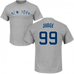Men's Aaron Judge New York Yankees Roster Name & Number T-Shirt - Gray