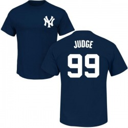 Men's Aaron Judge New York Yankees Roster Name & Number T-Shirt - Navy