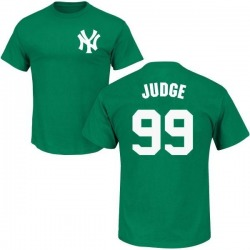 Men's Aaron Judge New York Yankees St. Patrick's Day Roster Name & Number T-Shirt - Green