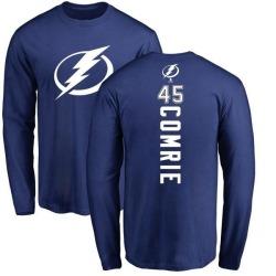 Men's Adam Comrie Tampa Bay Lightning Backer Long Sleeve T-Shirt - Royal