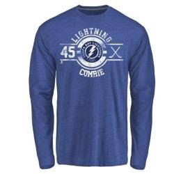 Men's Adam Comrie Tampa Bay Lightning Insignia Tri-Blend Long Sleeve T-Shirt - Royal
