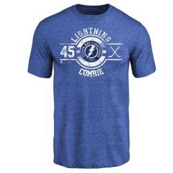 Men's Adam Comrie Tampa Bay Lightning Insignia Tri-Blend T-Shirt - Royal