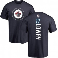Men's Adam Lowry Winnipeg Jets Backer T-Shirt - Navy