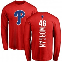Men's Adam Morgan Philadelphia Phillies Backer Long Sleeve T-Shirt - Red