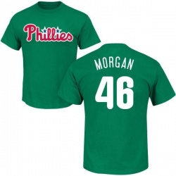 Men's Adam Morgan Philadelphia Phillies St. Patrick's Day Roster Name & Number T-Shirt - Green