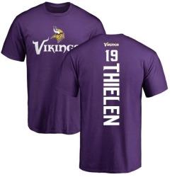 Men's Adam Thielen Minnesota Vikings Backer T-Shirt - Purple