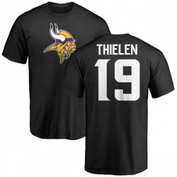 Men's Adam Thielen Minnesota Vikings Name & Number Logo T-Shirt - Black