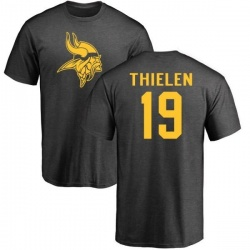 Men's Adam Thielen Minnesota Vikings One Color T-Shirt - Ash
