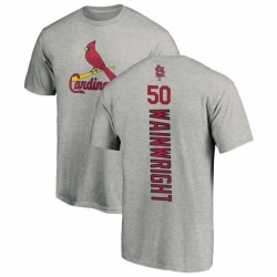 Men's Adam Wainwright St. Louis Cardinals Backer T-Shirt - Ash