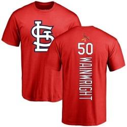 Men's Adam Wainwright St. Louis Cardinals Backer T-Shirt - Red