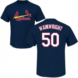 Men's Adam Wainwright St. Louis Cardinals Roster Name & Number T-Shirt - Navy