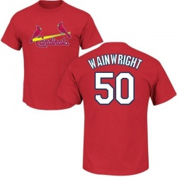Men's Adam Wainwright St. Louis Cardinals Roster Name & Number T-Shirt - Red