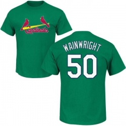 Men's Adam Wainwright St. Louis Cardinals St. Patrick's Day Roster Name & Number T-Shirt - Green
