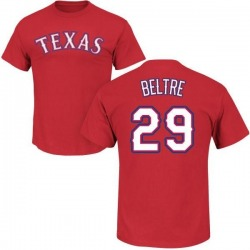 Men's Adrian Beltre Texas Rangers Roster Name & Number T-Shirt - Red