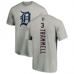 Men's Alan Trammell Detroit Tigers Backer T-Shirt - Ash