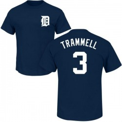 Men's Alan Trammell Detroit Tigers Roster Name & Number T-Shirt - Navy