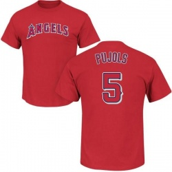 Men's Albert Pujols Los Angeles Angels Roster Name & Number T-Shirt - Red