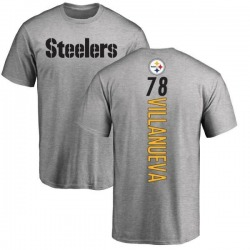 Men's Alejandro Villanueva Pittsburgh Steelers Backer T-Shirt - Ash