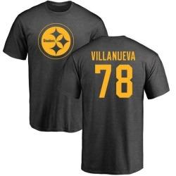 Men's Alejandro Villanueva Pittsburgh Steelers One Color T-Shirt - Ash