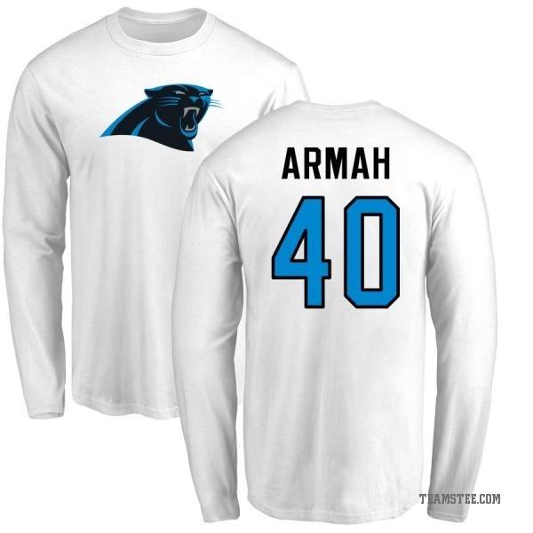 low priced d0b92 9df72 Men's Alex Armah Carolina Panthers Name & Number Logo Long Sleeve T-Shirt -  White - Teams Tee