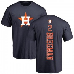 Men's Alex Bregman Houston Astros Backer T-Shirt - Navy