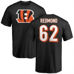 Men's Alex Redmond Cincinnati Bengals Name & Number Logo T-Shirt - Black