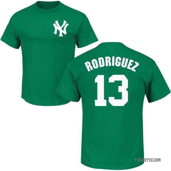 the best attitude fa748 45201 Men's Alex Rodriguez New York Yankees St. Patrick's Day Roster Name &  Number T-Shirt - Green - Teams Tee