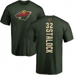 Men's Alex Stalock Minnesota Wild Backer T-Shirt - Green