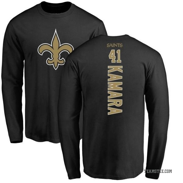 meet 6e48d e8ce6 Men's Alvin Kamara New Orleans Saints Backer Long Sleeve T-Shirt - Black -  Teams Tee