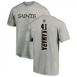Men's Alvin Kamara New Orleans Saints Backer T-Shirt - Ash