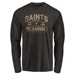 Men's Alvin Kamara New Orleans Saints Flanker Tri-Blend Long Sleeve T-Shirt - Black