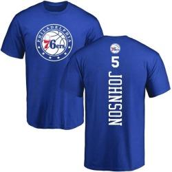 Men's Amir Johnson Philadelphia 76ers Royal Backer T-Shirt