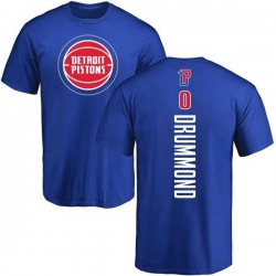 Men's Andre Drummond Detroit Pistons Royal Backer T-Shirt