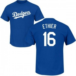 Men's Andre Ethier Los Angeles Dodgers Roster Name & Number T-Shirt - Royal