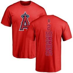 Men's Andrelton Simmons Los Angeles Angels Backer T-Shirt - Red