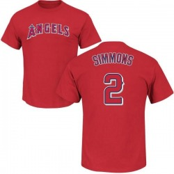 Men's Andrelton Simmons Los Angeles Angels Roster Name & Number T-Shirt - Red