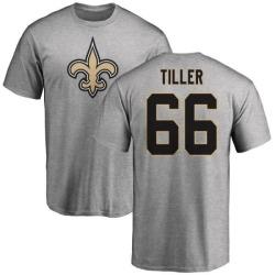 Men's Andrew Tiller New Orleans Saints Name & Number Logo T-Shirt - Ash