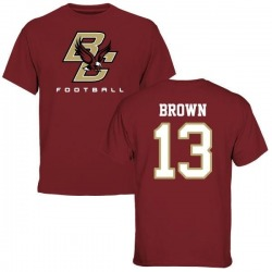 Men's Anthony Brown Boston College Eagles Football T-Shirt - Maroon