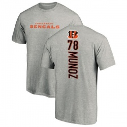 Men's Anthony Munoz Cincinnati Bengals Backer T-Shirt - Ash