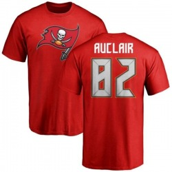 Men's Antony Auclair Tampa Bay Buccaneers Name & Number Logo T-Shirt - Red