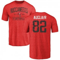 Men's Antony Auclair Tampa Bay Buccaneers Red Distressed Name & Number Tri-Blend T-Shirt