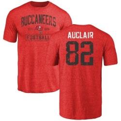 Men's Antony Auclair Tampa Bay Buccaneers Red Distressed Name & Number Tri-Blend T-Shirt