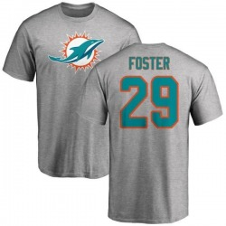 Men's Arian Foster Miami Dolphins Name & Number Logo T-Shirt - Ash