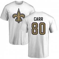 Men's Austin Carr New Orleans Saints Name & Number Logo T-Shirt - White