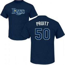Men's Austin Pruitt Tampa Bay Rays Roster Name & Number T-Shirt - Navy