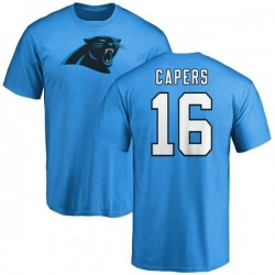Men's Avius Capers Carolina Panthers Name & Number Logo T-Shirt - Blue